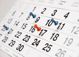 2019 Feis Schedule